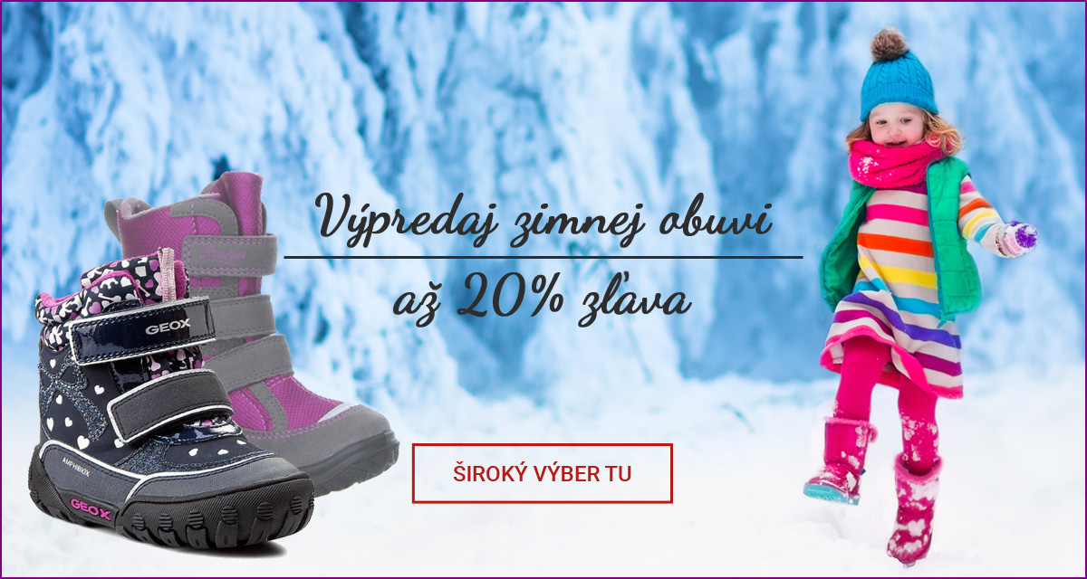 Výpredaj detskej zimnej obuvi